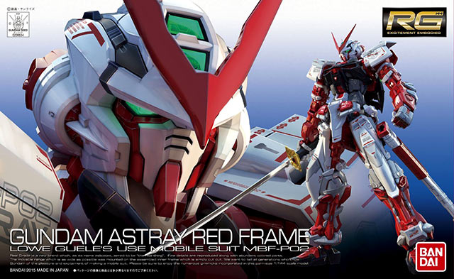 RG Gundam Astray Red Frame English Manual & Color Guide
