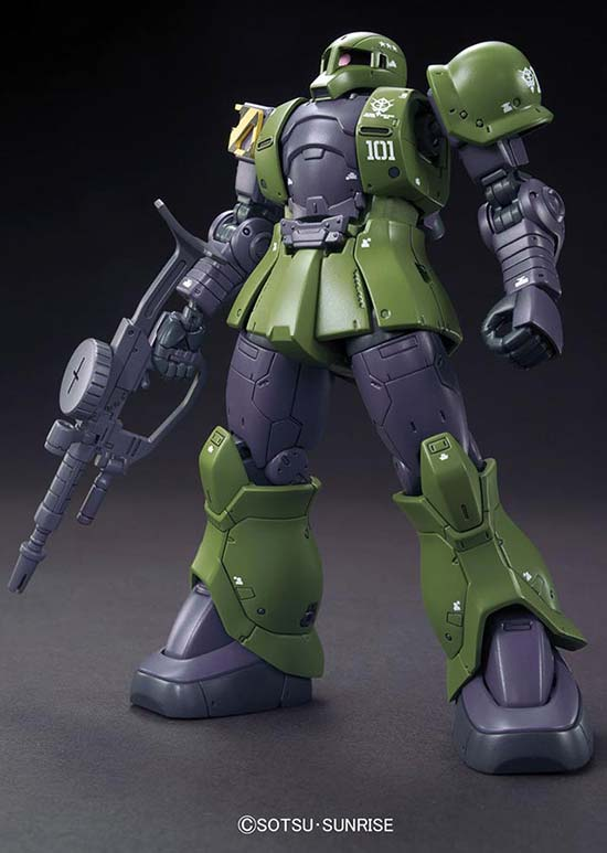 HG Zaku I (The Origin) English Manual & Color Guide (Denim/Slender version) 1/144 High Grade Bandai