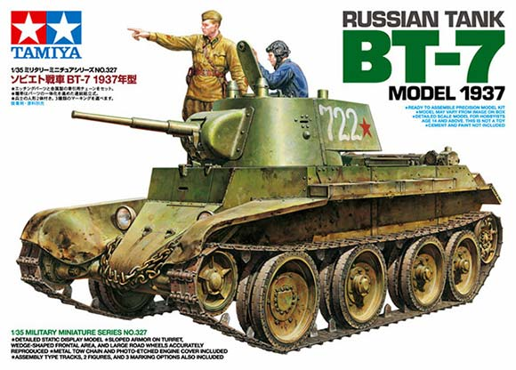 1/35 Tamiya Russian Tank BT-7 (Model 1937) English Color Guide & Paint Conversion Chart