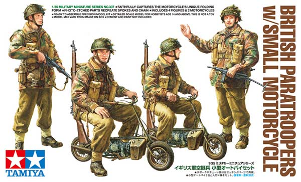 1/35 Tamiya British Paratroopers w/ Small Motorcycle English Color Guide & Paint Conversion Chart